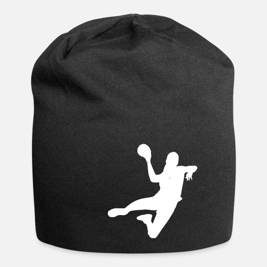 Symbol  Caps & Hats - Handball player Handball player jump throwing block - Beanie black