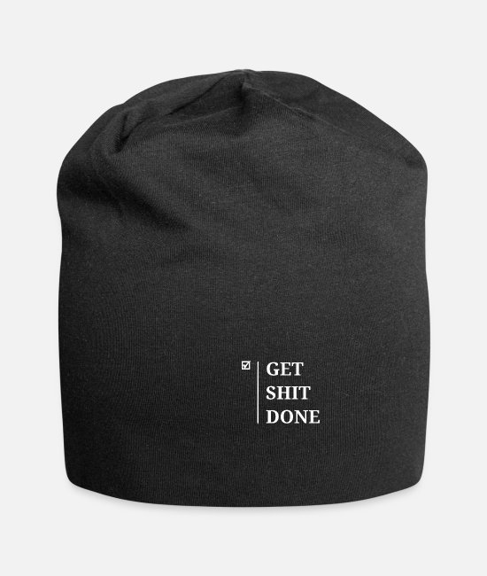Inspiration Caps & Hats - GET SHIT DONE - Beanie black