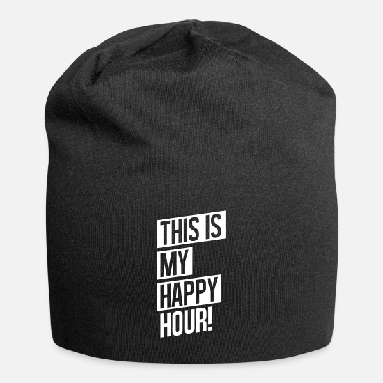 Pain Caps & Hats - THIS IS MY HAPPY HOUR - Beanie black