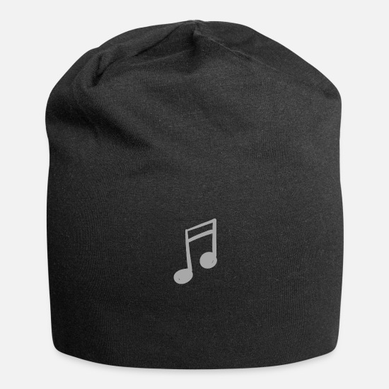 Music Note Caps & Hats - musical note - Beanie black