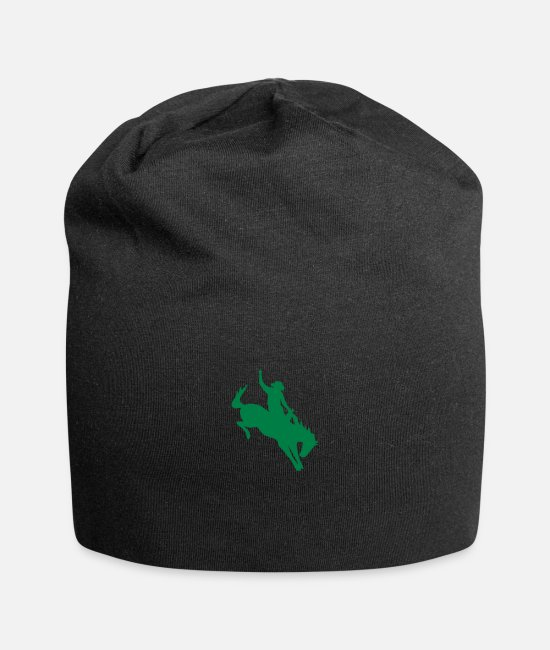 Riding Caps & Hats - Rodeo Riding on a wild horse - Beanie black