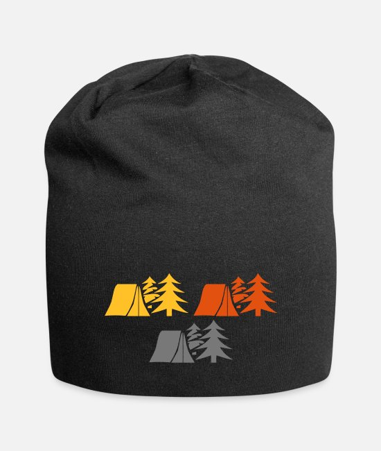 Camper Caps & Hats - Camping in the woods - Beanie black