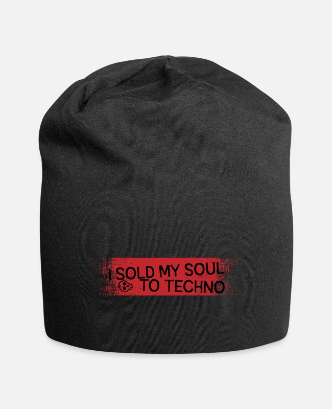 Festival Caps & Hats - I Sold My Soul To Techno - Beanie black