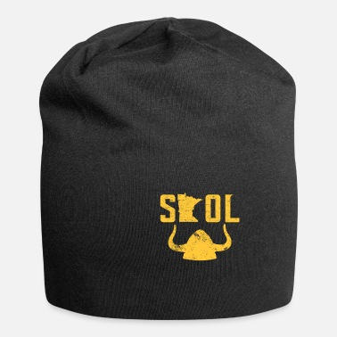 Viking SKOL Casque Casquette Distressed Vintage Nordic Yellow - Beanie