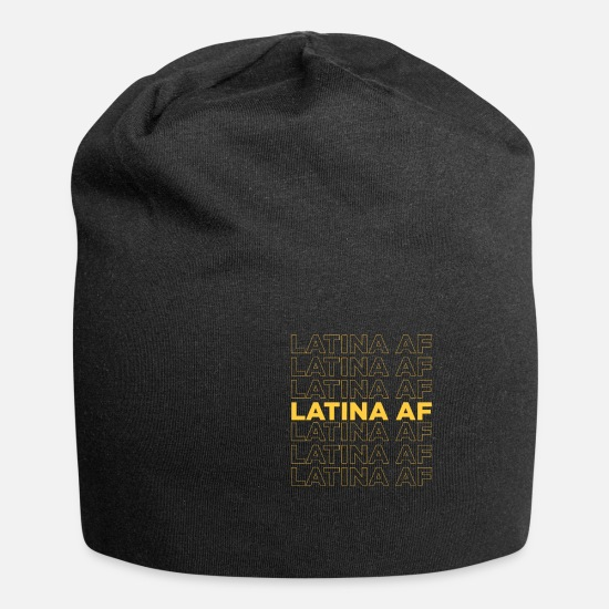 Latino Kasketter & huer - Latina AF Shirt Latin Latino Spanish - Beanie sort