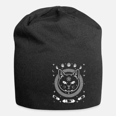 Cat Cat Cats Gothic Moon Goth Pentacle Gift - Beanie