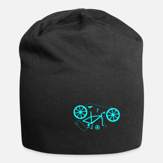 Bicyclette Caps & Hats - Explosion Bike Blue - Beanie black
