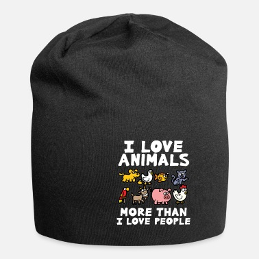 Animal Love I LOVE ANIMALS animal lover animal love animal protection - Beanie