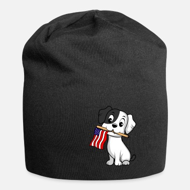 Paw Dog Flag America American and dog lovers - Beanie