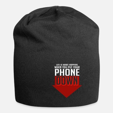 Cell Phone Addiction Life phone cell phone addict gift - Beanie