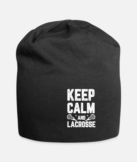Fußball Caps & Mützen - Keep Calm And Lacrosse Player Lustig - Beanie Schwarz