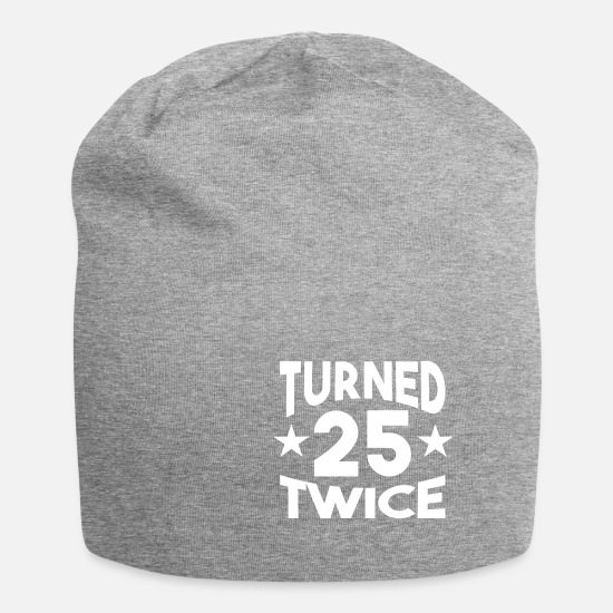 Birthday Caps & Hats - Birthday Shirt - Turned Twenty Twice - Beanie heather grey