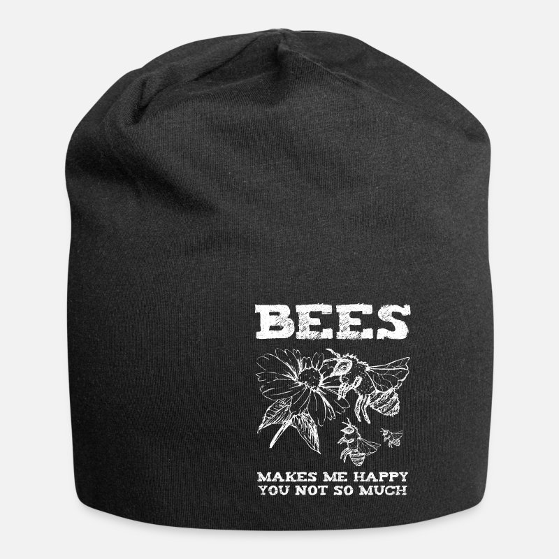 Stitch Caps & Hats - Bee Bee Yellow Fly Pollen Blossom Besteuben - Beanie black