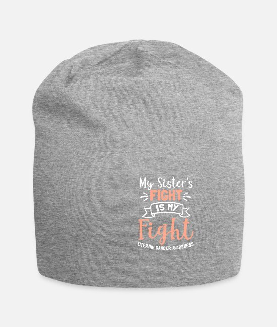Cancer Survivor Caps & Hats - Uterine Cancer My Sisters Fight is My Gift - Beanie heather grey