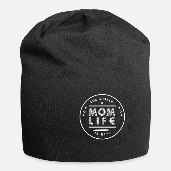 Mother Caps & Hats - Mom life is hectic - Beanie black
