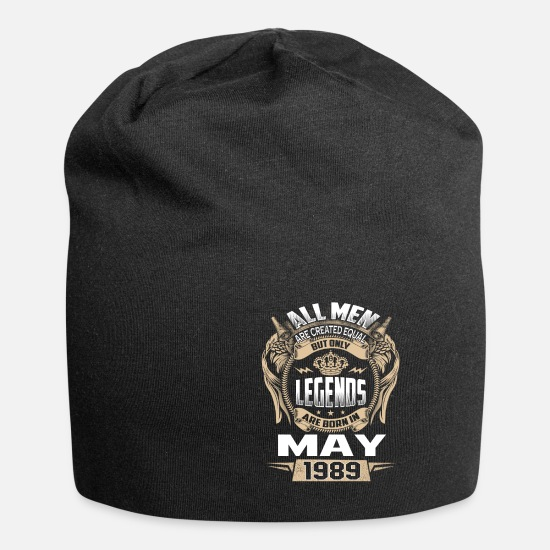 Born Caps & Hats - 30th birthday Legends Are Born In May 1989 - Beanie black