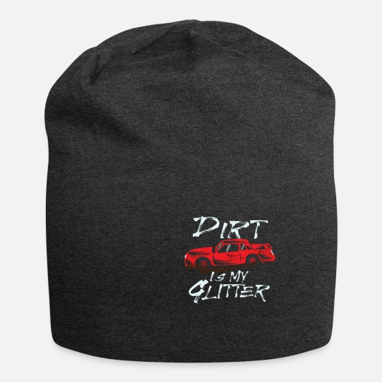 Glitter Petten & mutsen - Dirt Is My Glitter Autorace Dirt Rally - Beanie houtskool