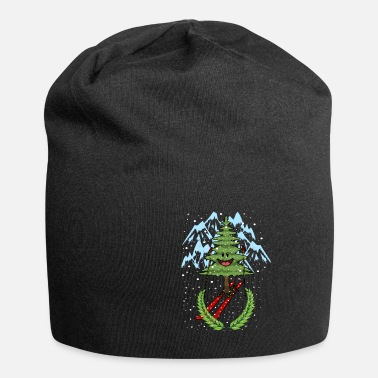 Escarpment Winter Sports Fir Tree Skier Pistensau Fantasy - Beanie
