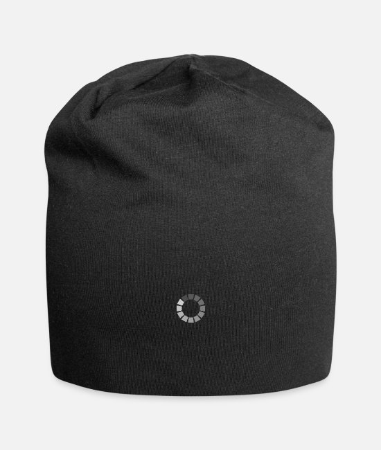 Progress Caps & Hats - Charge symbol in gray - Beanie black