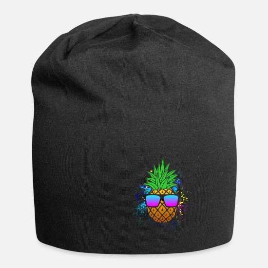 Gift Idea Caps & Hats - pineapple - Beanie black