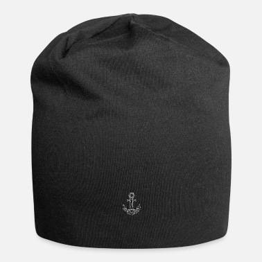 Kiel simple origami anchor in maritime northern Germany - Beanie