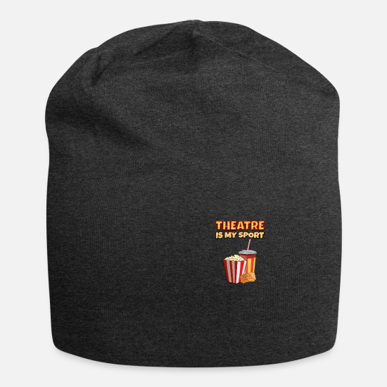 Gift Idea Caps & Hats - Theater Is My Sport Funny gift - Beanie charcoal grey