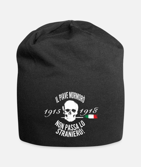 Proud Caps & Hats - Piave, river sacred to the homeland (black version) - Beanie black