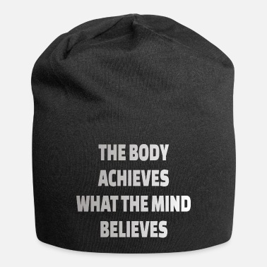 Motivation POWERLIFTING : The body achieves what the mind - Beanie