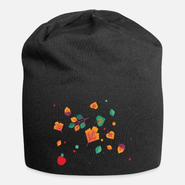 Autumn Autumn born leaves piled - Beanie