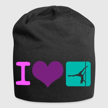 I love Pole Dance Pole Fitness Gift - Jersey Beanie