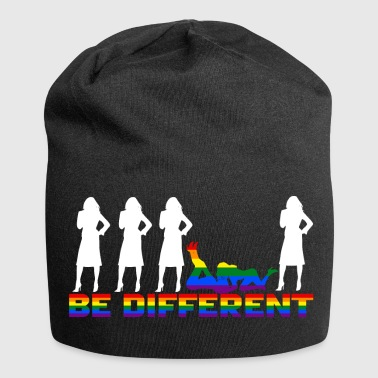 Gay Pride - Frauen - Be different - Jersey Beanie