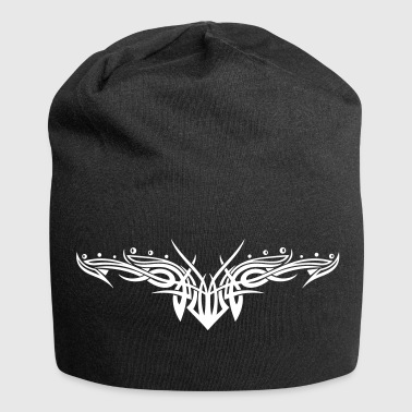 Filigranes Tribal mit Kugeln, Tattoo - Jersey-Beanie