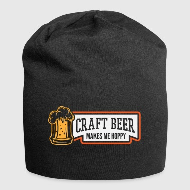 Craft Beer Makes Me Hoppy - Jersey-Beanie