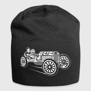 Oldtimer Race / Classic Race Car 01_white - Jersey Beanie