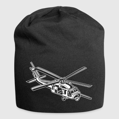 Helicopter / helicopter 01_white - Jersey Beanie