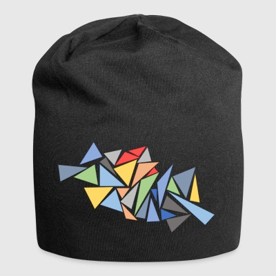 Modern Triangles - Jersey Beanie