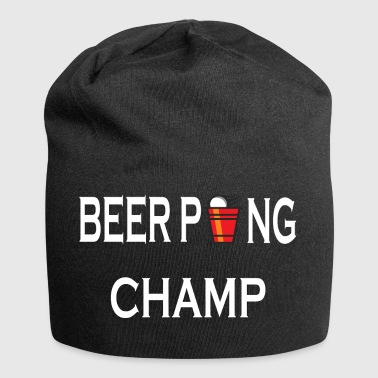 Beer Pong Champ drinking game - Jersey Beanie
