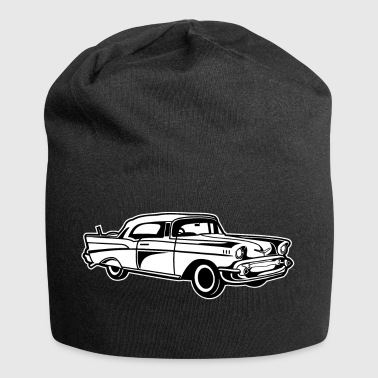 Chevy Bel Air / Oldtimer 01_black white - Jersey Beanie
