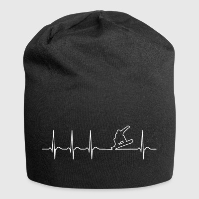 Heartbeat Snowboarder Fun Funny Cool Funny - Jersey Beanie