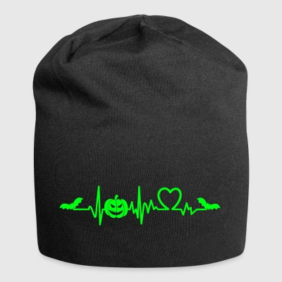 Halloween heart beat sweet or sour - Jersey Beanie