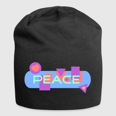 Peace and Love - Bonnet en jersey