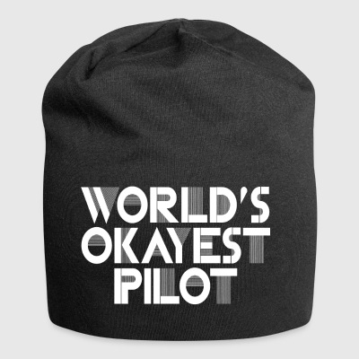 World's Okayest Pilot.Gifts for dad, grandad, son - Jersey Beanie