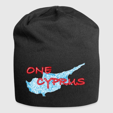 one cyprus red blue - Jersey Beanie