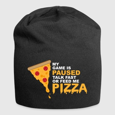 Game Is Paused Pizza Gaming Funny Nerd - Jersey-Beanie