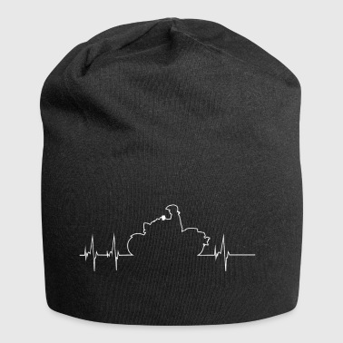 Motorcycle Heartbeat Shirt - Motorcycle - Jersey Beanie