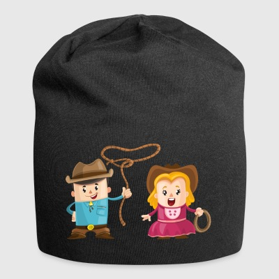 Cowboy with girl - Jersey Beanie