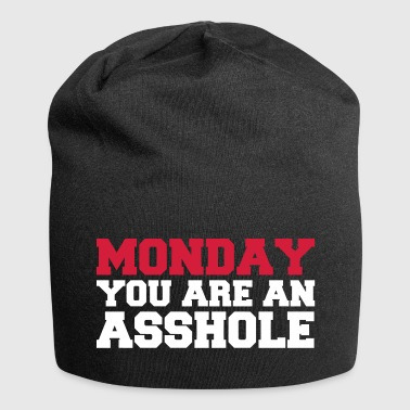 Monday you are an asshole - Jersey Beanie