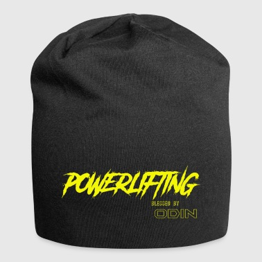 BLESSED BY ODIN powerlifting 2 - Jersey Beanie
