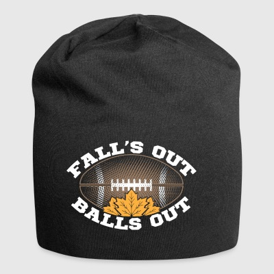 Fall's Out Balls Out Autumn Football Outfit Gift - Beanie in jersey