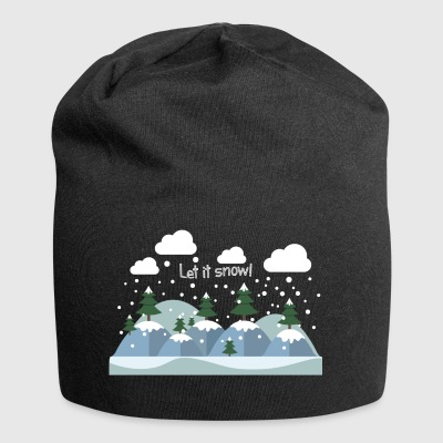 Let it Snow.Awesome Winter Gifts.Christmas.NewYear - Czapka krasnal z dżerseju